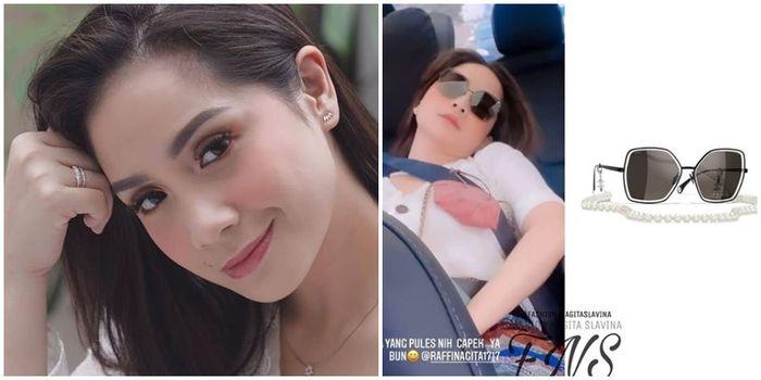 Nagita Slavina diketahui memakai Chanel 'Butterfly Sunglasses' seharga Rp 16.900.000 saat tertidur pulas di mobil mewahnya jadi sorotan hingga tuai komentar netizen.