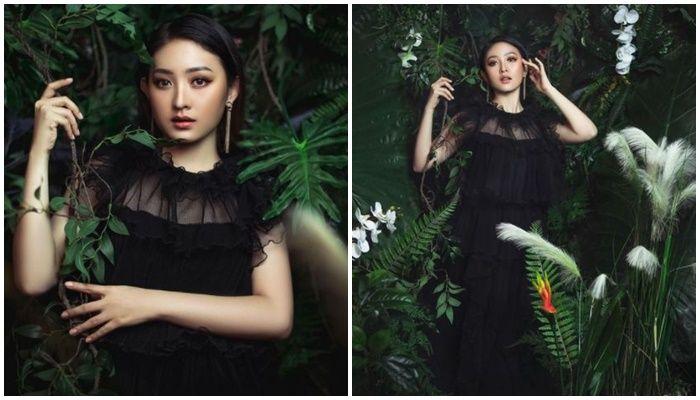 Potret Natasha Wilona dalam balutan dress hitam transparan disebut mirip idol Korea hingga banjir pujian netizen.