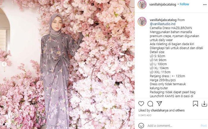 Tren Baju Lebaran 2021: Rekomendasi Dress Lebaran dari Online Shop Lokal - Vanilla Hijab