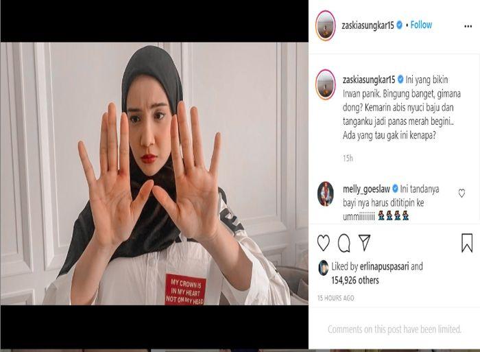 Unggahan Zaskia Sungkar