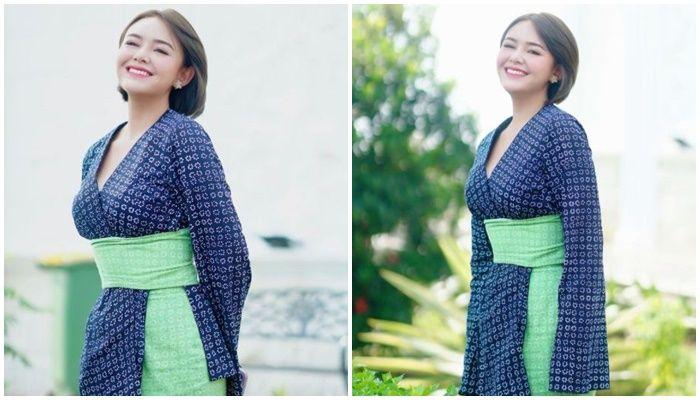 Potret Andin Ikatan Cinta tampil modis dengan kimono, kecantikan Amanda Manopo jadi sorotan netizen.