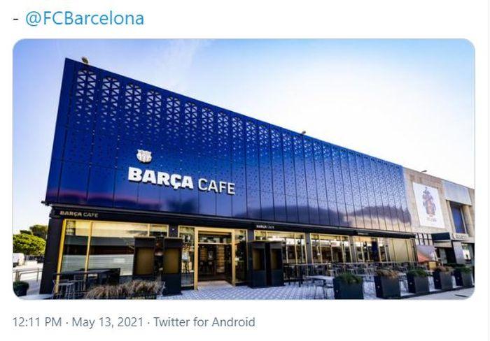 Barca Cafe, sebuah restoran yang baru saja dirilis oleh Barcelona.