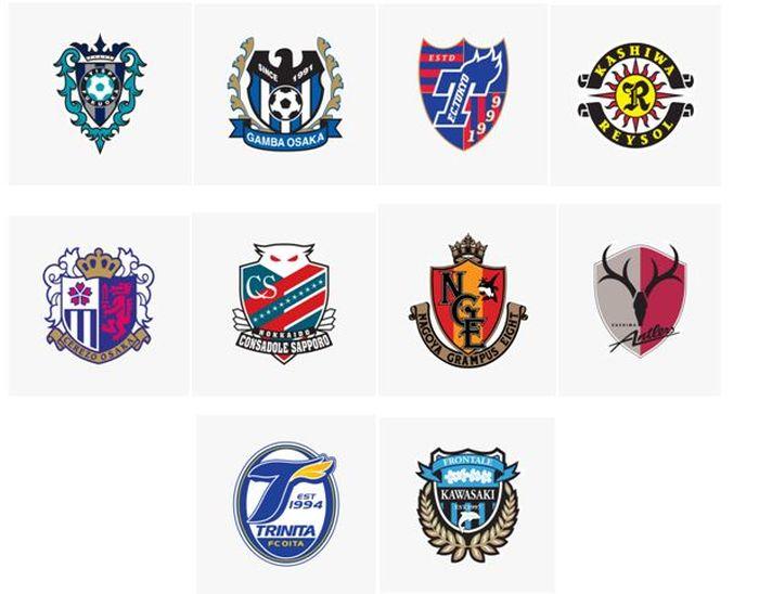 Logo klub peserta Liga Jepang 2021.
