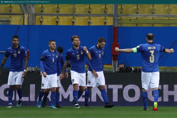 Timnas Italia melalui pelatihnya, Roberto Mancini merilis daftar skuad awal yang bakal berlaga di EURO 2020