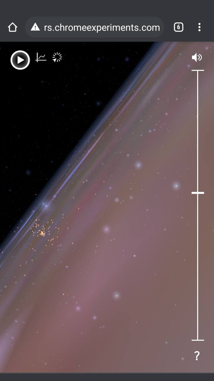 Kalian bisa zoom-in dan zoom-out untuk melihat sistem tata surya di ruang angkasa.