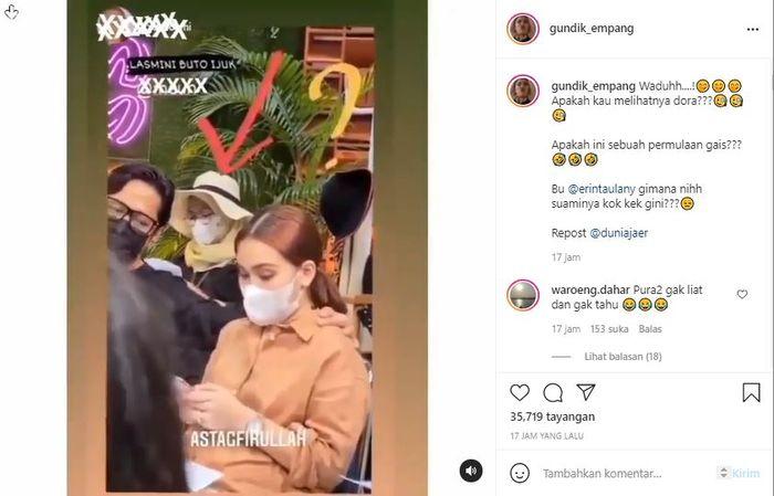 Video itu viral saat diunggah akun Instagram @gundik_empang.