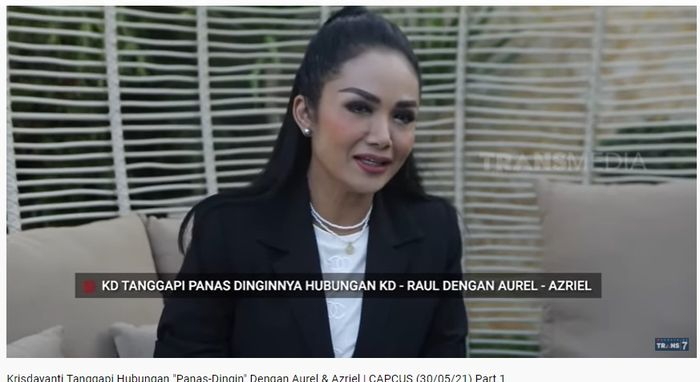 Krisdayanti expressed the feelings of Raul Lemos who had been associated with Aurel Azriel.