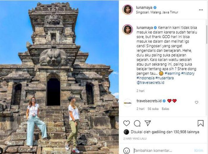 Postingan Instagram Luna Maya