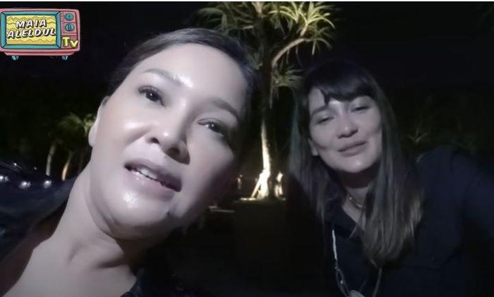Maia Estianty saat bertemu Luna Maya di Bali