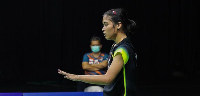 Gregoria Mariska Tunjung kalah dari Ester Nurumi Tri Wardoyo pada Simulasi Olimpiade Tokyo 2020.
