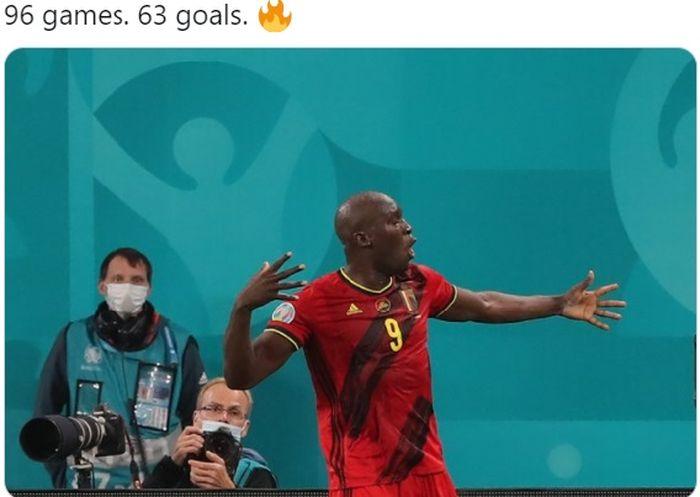 Striker timnas Belgia, Romelu Lukaku.