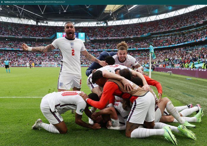 Inggris berhasil meraih tiket ke perempat final Euro 2020 usai menaklukkan Jerman.