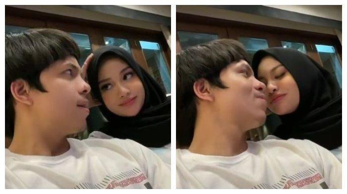 Atta Halilintar uploaded a kiss video with Aurel Hermansyah