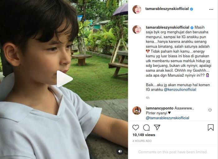Langsung pasang badan anaknya jadi sasaran hujatan, Tamara Bleszynski geregetan terheran-heran lihat kelakuan netizen.
