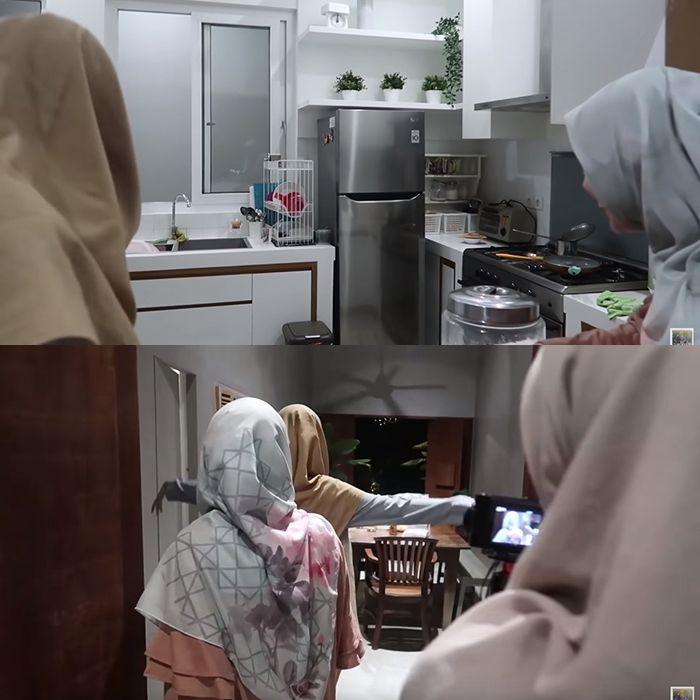 Dapur di rumah Dewi Sandra