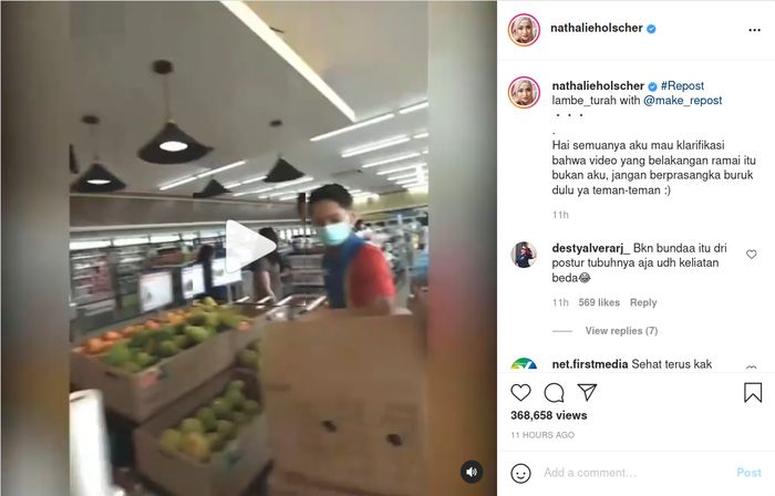 Istri Sule dituding terlibat video viral tentang serobot antrian di minimarket, ini klarifikasi Nathalie Holscher.