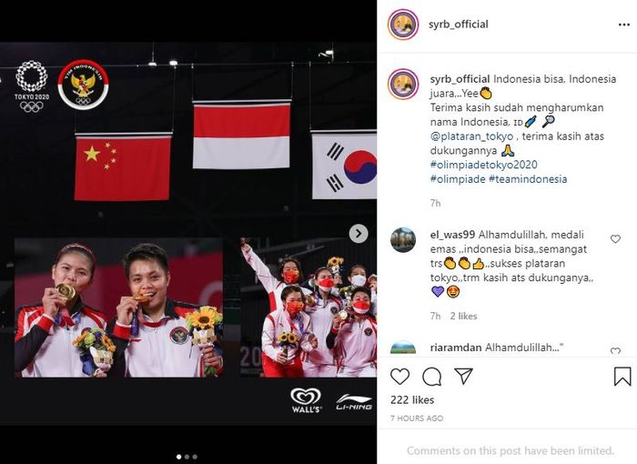 Reino Barack Sends Food to the Indonesian National Team Who Is Struggling at the Tokyo Olympics