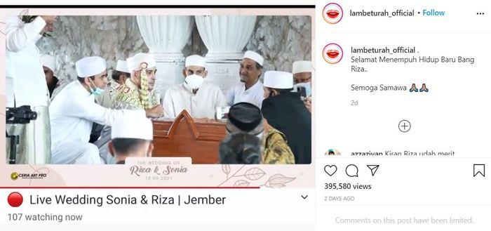 Riza Shahab resmi menikah