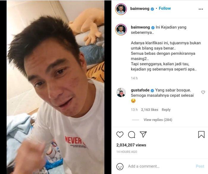 Klarifikasi Baim Wong tentang video viralnya memarahi bapak tua
