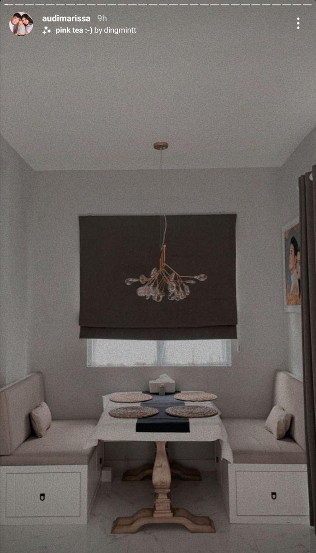 Ruang makan di rumah artis <a href='/tribun/tag/audi-marissa' title='AudiMarissa'>AudiMarissa</a> dan <a href='/tribun/tag/anthony-xie' title='AnthonyXie'>AnthonyXie</a>.