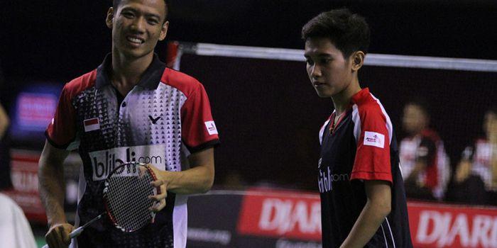 Pasangan ganda campuran Indonesia, Lukhi Apri Nugroho/Ririn Amelia.