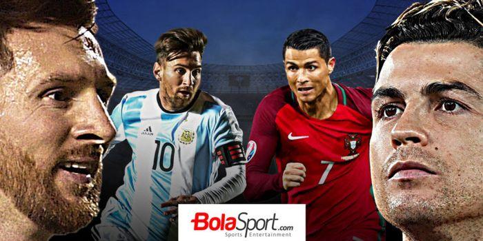 Lionel Messi dan Cristiano Ronaldo, dua pesepak bola terbaik dunia.