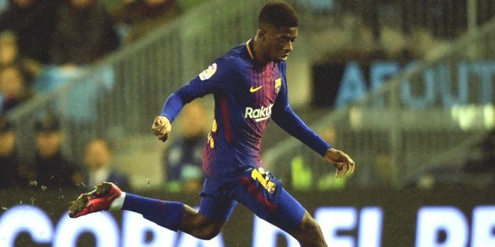 Aksi Ousmane Dembele dalam partai Copa del Rey antara Celta Vigo dan FC  Barcelona di Balaidos d77c8a5f36