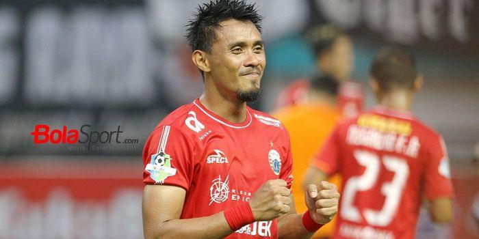 Bek Persija Jakarta, Maman Abdurrahman setelah laga melawan Sriwijaya FC di Stadion Wibawa Mukti, Ci