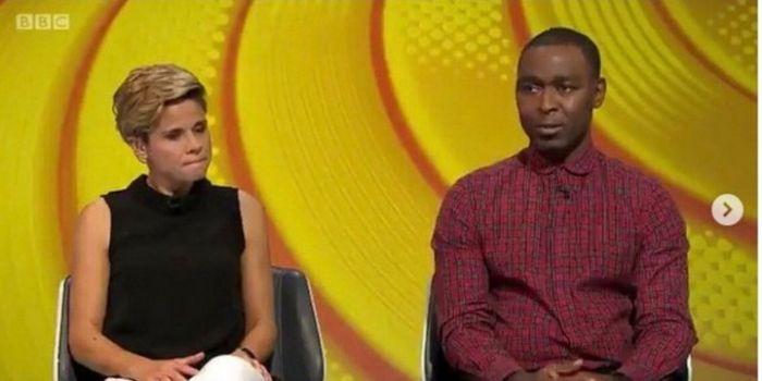 Mantan striker Manchester United, Andy Cole, saat menjadi pembicara di acara BBC Sport