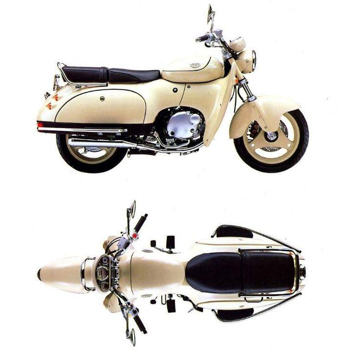 Sisi samping dan atas dari Suzuki SW-1