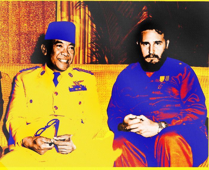 Setiap bersua, Bung Karno dan Fidel Castro selalu bercanda.