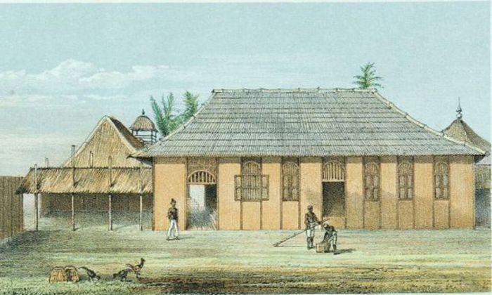 Kedaton Kesultanan Kutai di Tenggarong, tepian Mahakam, pada masa Sultan Aji Muhammad Sulaiman.