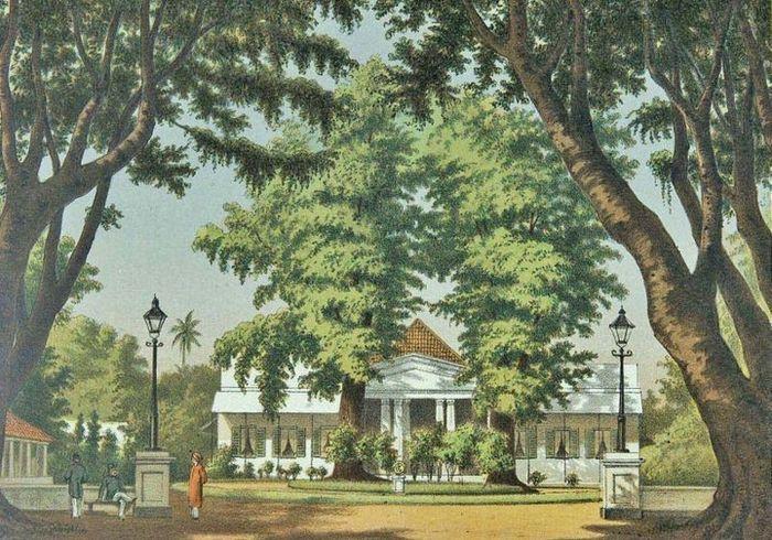 Wisma Residen di Yogyakarta, pada masa kolonial warga menyebutnya dengan Loji Kebon.