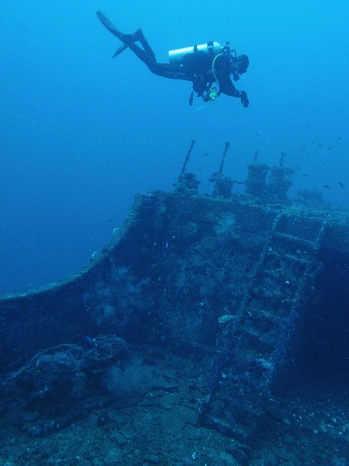 Tangga geladak kapal uap Sophie Rickmers. Foto pada 3 Agustus 2013.