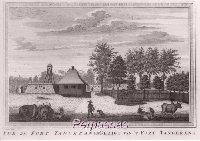 Fort Tangerang karya Heydt Johann Wolfgang pada 1744, empat tahun usai pecahnya pemberontakan orang-