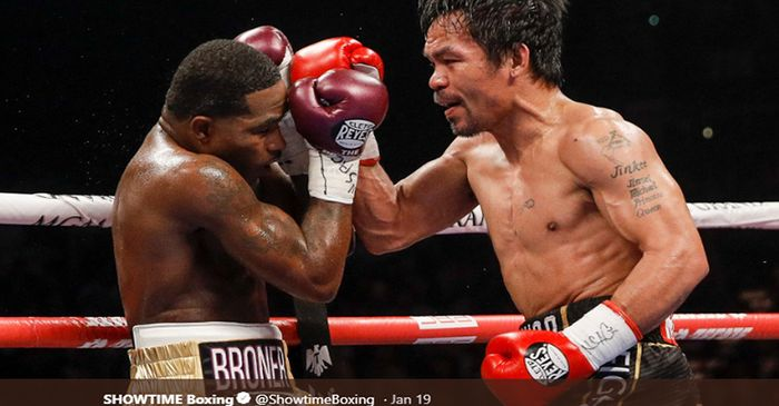 Manny Pacquiao Sukses Rebut Gelar Keith Thurman