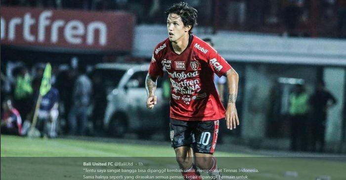 Soal Masa Depan Irfan Bachdim di Bali United, Teco: Masih Bisa Main di Piala AFC