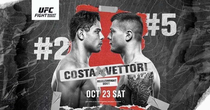Hasil UFC Vegas 41 - Badan Gede Doang, Paulo Costa Dibekuk Marvin Vettori