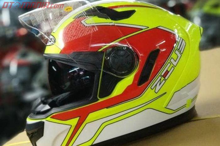 Ilustrasi helm dengan fitur double visor
