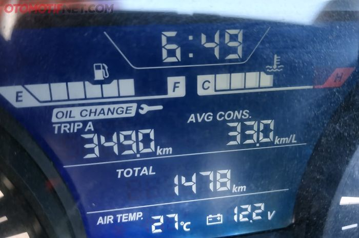 Indikator oil change dan jadwal servis Honda Forza