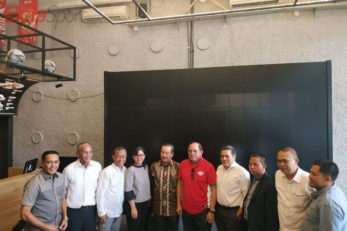 PSSI mengumumkan Kongres Pemilihan, di Garuda Store, Jakarta, Kamis (12/9/2019).