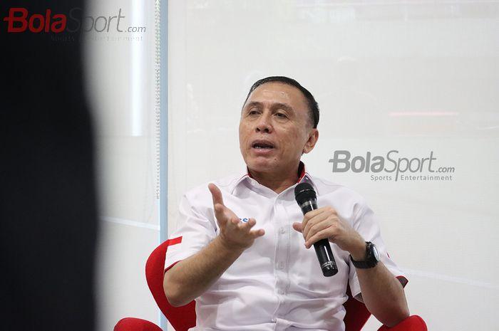 Ketua Umum PSSI, Mochamad Iriawan menyampaikan pemaparan mengenai kelanjutan Liga 1 2020 dan perkembangan timnas Indonesia