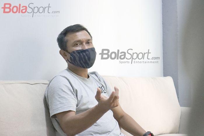 Pelatih Persita Tangerang, Widodo Cahyono Putro, melakukan wawancara ekslusif dengan BolaSport.com, 17 September 2020.
