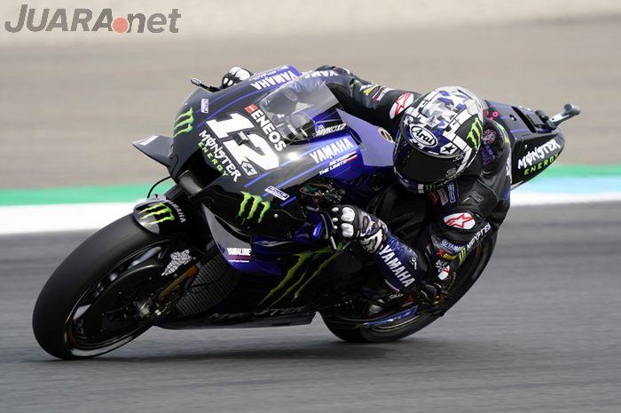 Pembalap MotoGP yang tampil bersama tim Monster Energy Yamaha, Maverick Vinales.