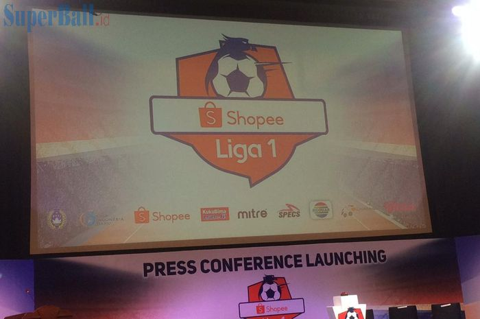Konferensi Pers Launching Shopee Liga 1 2019 di SCTV Tower, Senayan, Jakarta Pusat, Senin (13/5/2019).