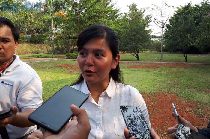 Sekjen PSSI Ratu Tisha Destria di Kedubes Inggris, di Jakarta Selatan, Selasa (8/10/2019).