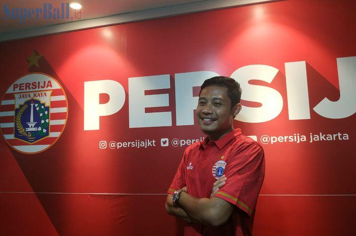 Evan Dimas diresmikan sebagai pemain Persija Jakarta, Sabtu (11/1/2020).