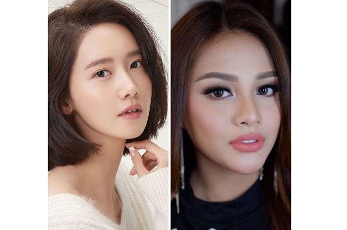 Yoona SNSD (kiri) dan AUrel Hermansyah (kanan)