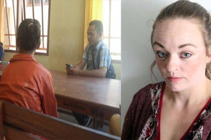 Kiri LS sedang bersaksi, Kanan Ketie Potter. Kedua korban pemerkosaan ayah kandung beda negara