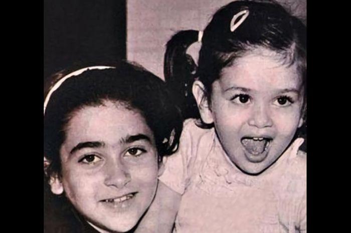 Kareena dan Kharisma Kapoor semasa kecil
